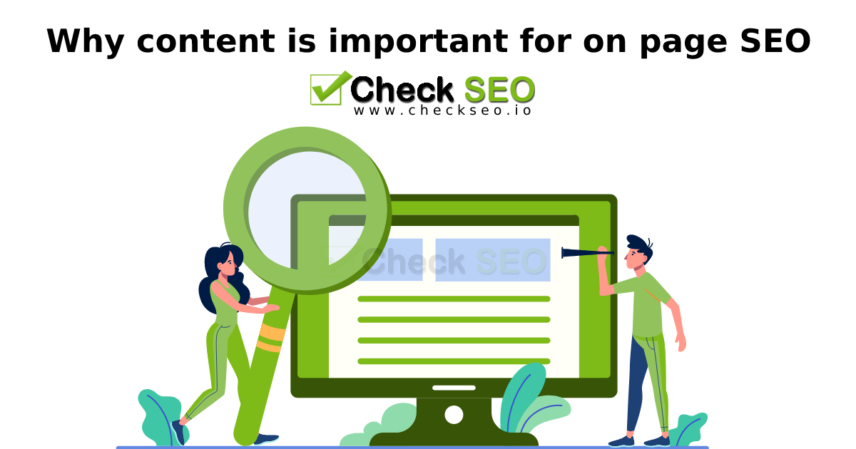 Why content is important for on page SEO